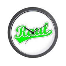 Retro Raul (Green) Wall Clock