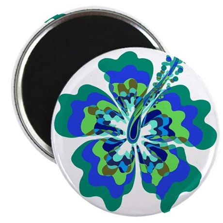 Psychedelic Hibiscus Magnet