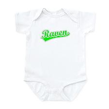 Retro Raven (Green) Infant Bodysuit