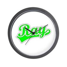Retro Ray (Green) Wall Clock