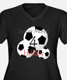 Soccer Moms 4 Hillary Women's Plus Size V-Neck Dar
