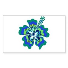 Psychedelic Hibiscus Rectangle Decal
