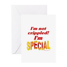 Not Crippled Greeting Card