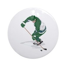 Hockey Player Ornament (Round)