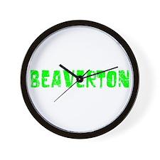 Beaverton Faded (Green) Wall Clock