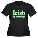 Irish By Marriage Women's Plus Size V-Neck Dark T-