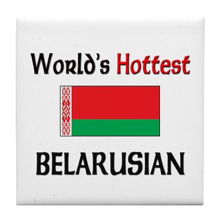 World's Hottest Belarusian Tile Coaster