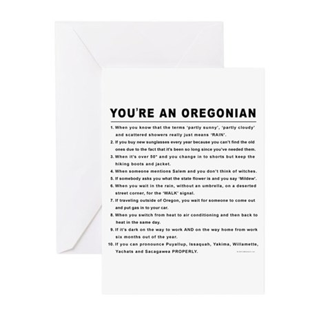 You're an Oregonian Greeting Cards (Pk of 20)