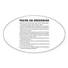 You're an Oregonian Oval Decal