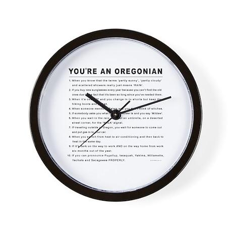 You're an Oregonian Wall Clock