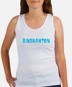 Binghamton Faded (Blue) Women's Tank Top