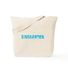 Binghamton Faded (Blue) Tote Bag