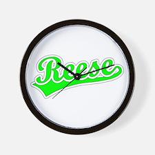 Retro Reese (Green) Wall Clock