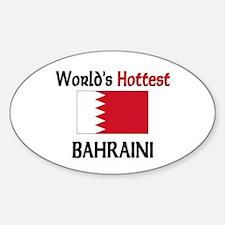 World's Hottest Bahraini Oval Decal
