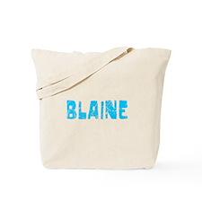 Blaine Faded (Blue) Tote Bag