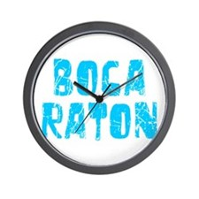 Boca Raton Faded (Blue) Wall Clock