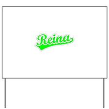 Retro Reina (Green) Yard Sign