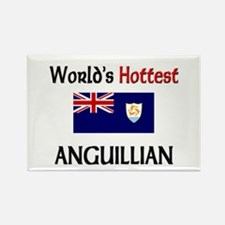 World's Hottest Anguillian Rectangle Magnet