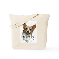 Corgi belly rub Tote Bag