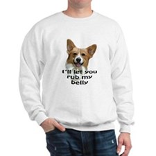 Corgi belly rub Sweatshirt