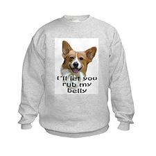 Corgi belly rub Sweatshirt