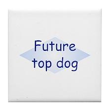 Future Top Dog Tile Coaster