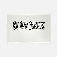 'Eat. Sleep. Genealogy.' Rectangle Magnet