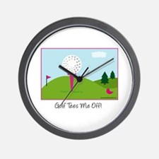Golf Tees Me Off - Wall Clock