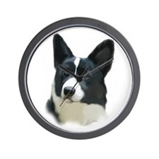 Corgi painting Wall Clock