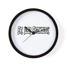 """Eat. Sleep. Entomology."" Wall Clock"