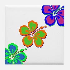 Draping Hibiscus Tile Coaster
