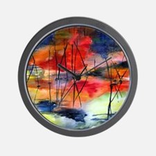 Sunset Reflected Wall Clock