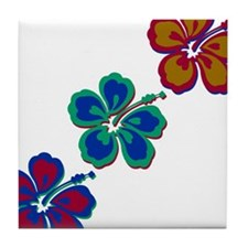 Draping Hibiscus Tile Coaster