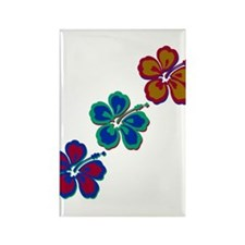 Draping Hibiscus Rectangle Magnet