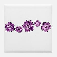 Purple Hibiscus Tile Coaster
