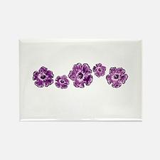 Purple Hibiscus Rectangle Magnet