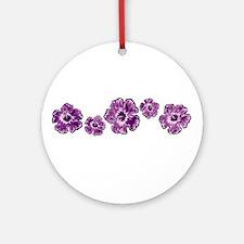 Purple Hibiscus Ornament (Round)