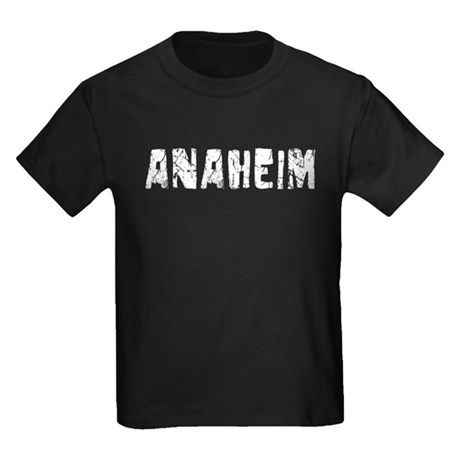Anaheim Faded (Silver) Kids Dark T-Shirt