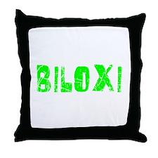 Biloxi Faded (Green) Throw Pillow