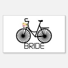 Bicycle Bride Rectangle Decal