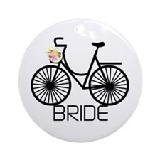 Bicycle Bride Ornament (Round)