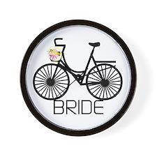 Bicycle Bride Wall Clock