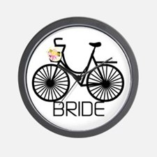 Bicycle Bride Wall Clock