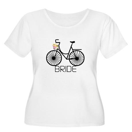 Bicycle Bride Women's Plus Size Scoop Neck T-Shirt