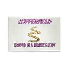 Copperhead Trapped In A Woman's Body Rectangle Mag