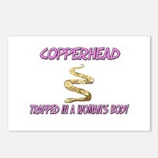 Copperhead Trapped In A Woman's Body Postcards (Pa
