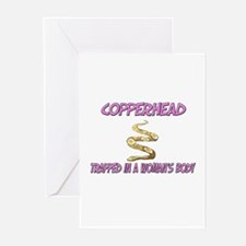 Copperhead Trapped In A Woman's Body Greeting Card