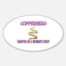 Copperhead Trapped In A Woman's Body Decal