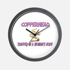 Copperhead Trapped In A Woman's Body Wall Clock