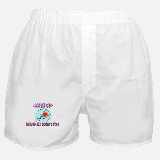 Copepod Trapped In A Woman's Body Boxer Shorts